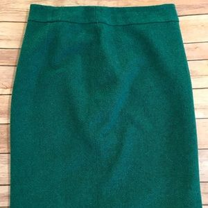 Heathered turquoise pencil skirt